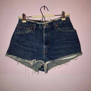 Vintage Levi's High Rise Denim Shorts